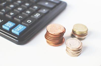 コインと電卓