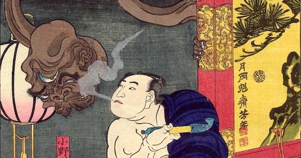 煙管の浮世絵